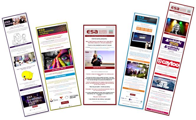 European Sponsorship Association Mailchimp email samples