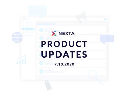 Nexta.io Product Updates - 7.10.2020
