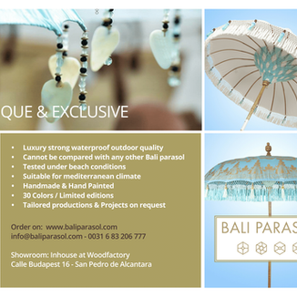 Advertising for our patio umbrellas