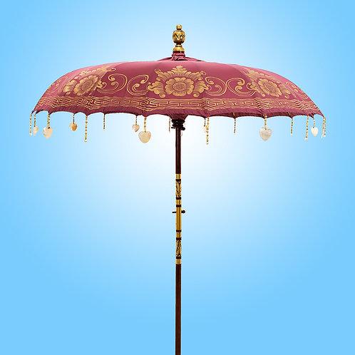 Old Rose Pearl Bali Parasol original handmade by Balinese artisans
