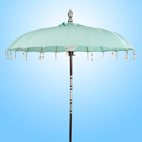 light blue or mint color balinese umbrella