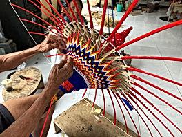 Artisan umrella making traditional