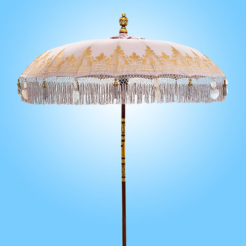 Sand Nirvana balinese parasol in mauve sand color