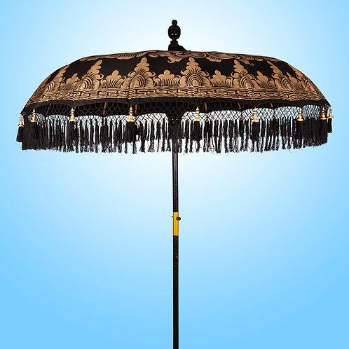 Zwarte balinese parasol exclusief ontwerp van Bali Parasol