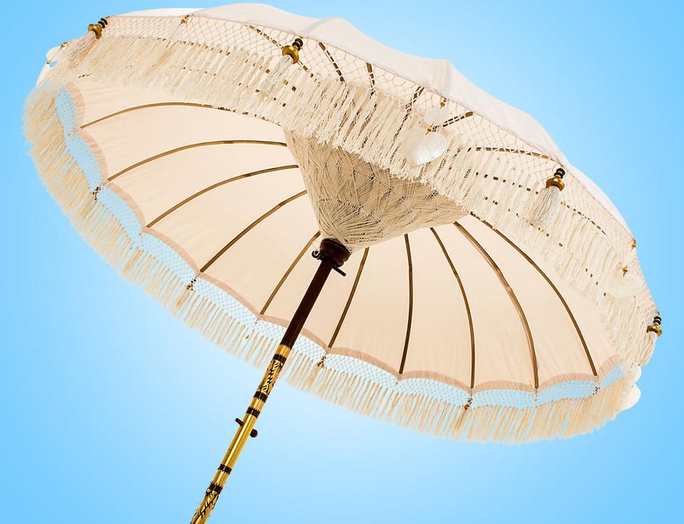 Naturel Serene Fringed Bali Parasol orig