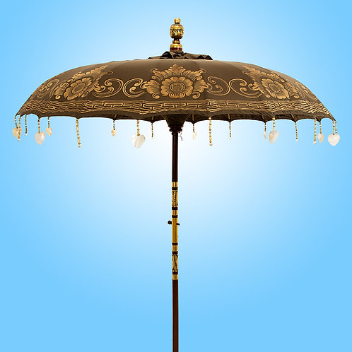 Olive green parasol natural asian style