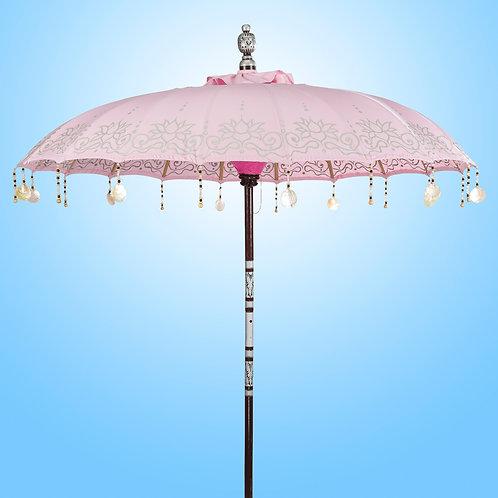 licht roze baliparasol voor tuin terras of zwembad
