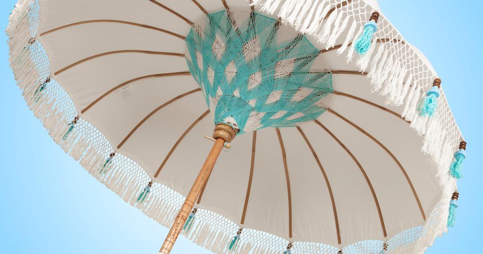 Bali Parasol Beach Chic Turquoise parasol