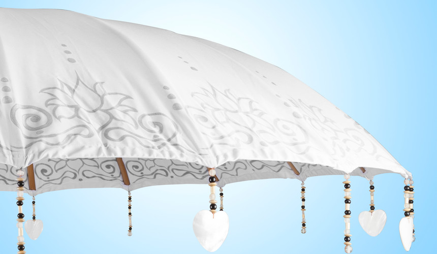 Baliparasol high quality paint work and sea shell decoration