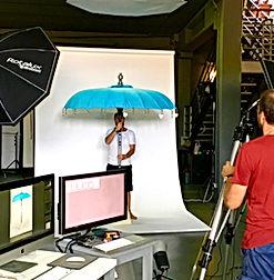 Ibiza style parasols