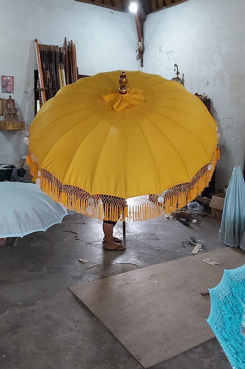 YELLOW FRINGED - Bali Parasol original