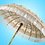White and gold balinese umbrella