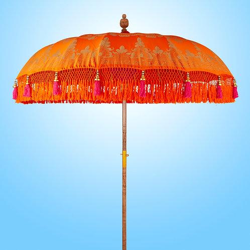 Orange Serenity Boho Ibiza parasol or umbrella