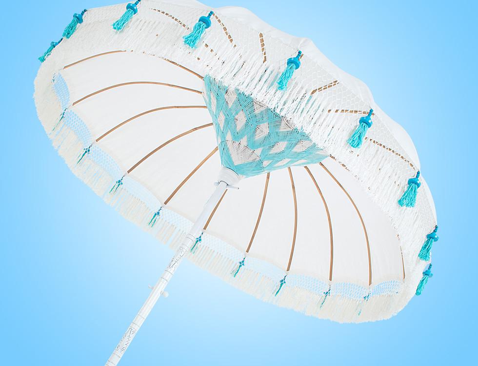 Beach Chic Fringed Bali Parasol