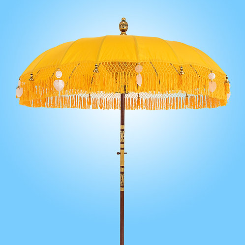 Gele baliparasol