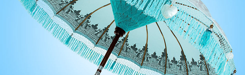 Baby Blue Nirvana  SILVER Bali Parasol o