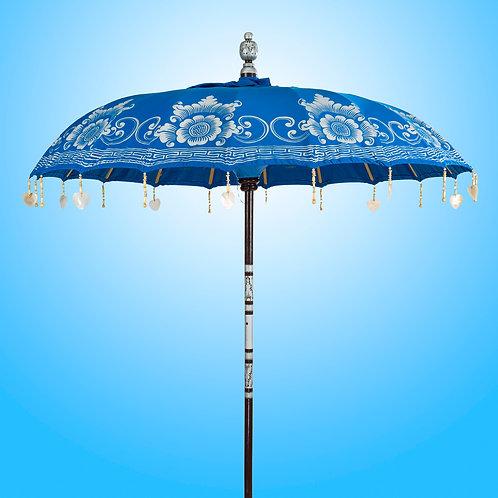 Decorated bali parsol or ibiza umbrella