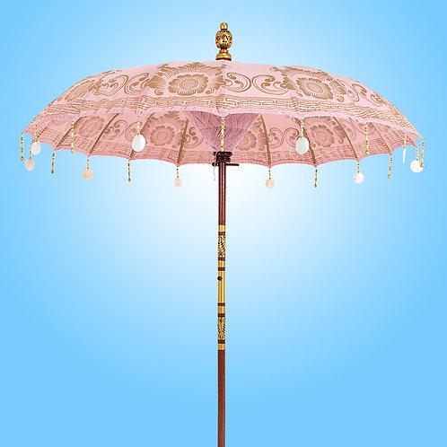 pink balinese parasol