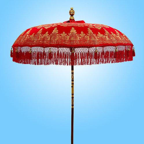 Red Serenity Bali Parasol original Balinese umbrella