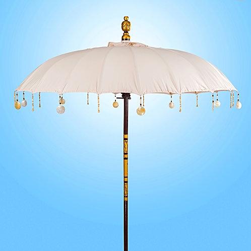Natural Serene cream balinese umbrella for pool beach garden