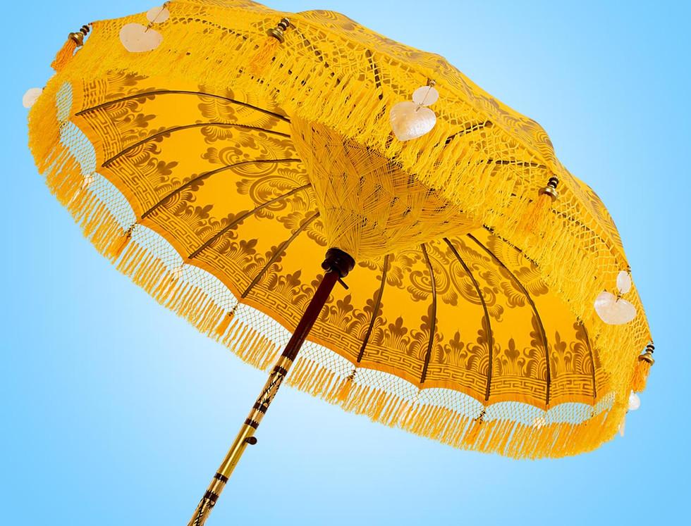 Yellow Serenity Bali Parasol original