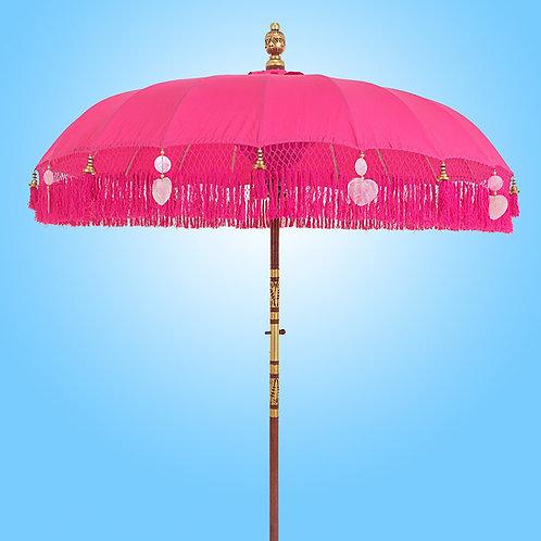 PINK FRINGED -Bali Parasol original
