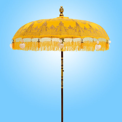 Yellow Serenity Bali Parasol original Balinese umbrella