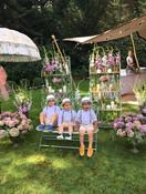 Wedding parasol at garden wedding