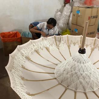 Fringed umbrellas handmade 100%