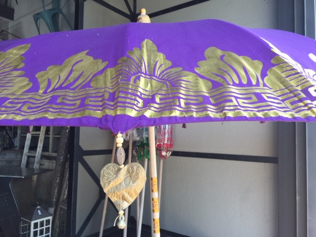 Example of stencilled ugly balinese umbrella