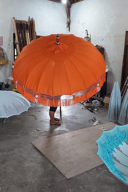 ORANGE FRINGED - Bali Parasol original