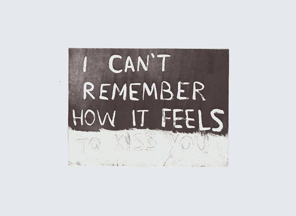 i can't remember how it feels