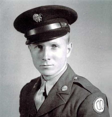 Redd in his uniform during WWII