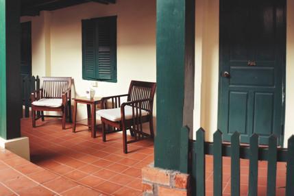 terasse guesthouse Luang Prabang