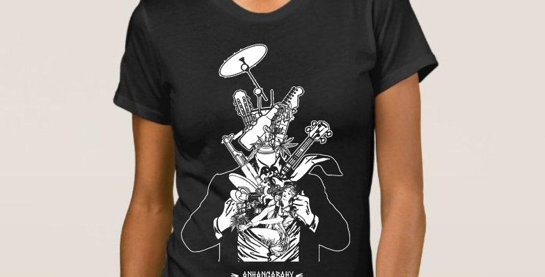 """Camiseta Feminina """"Além-Homem"""" Preto"""