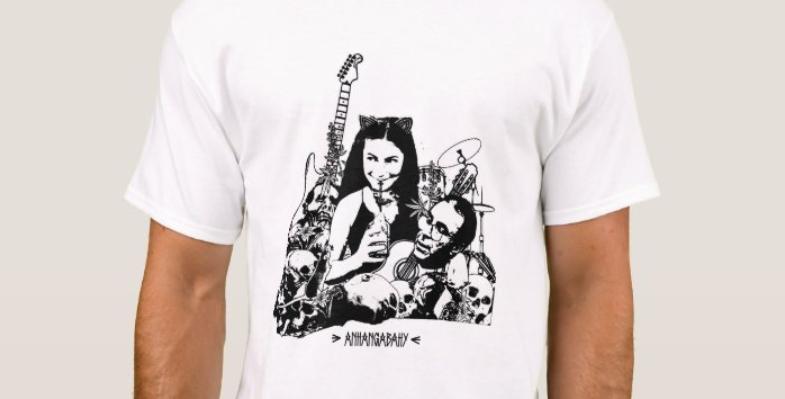 """Camiseta Básica """"Carpe Noctem"""" Branco"""