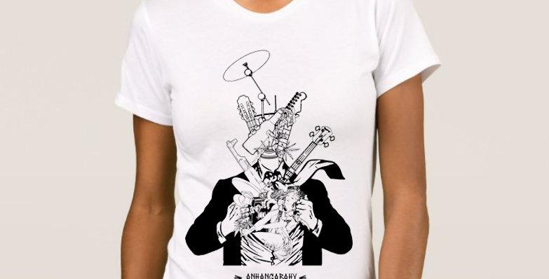 "Camiseta Feminina Baby Look ""Além-Homem"" Branco"