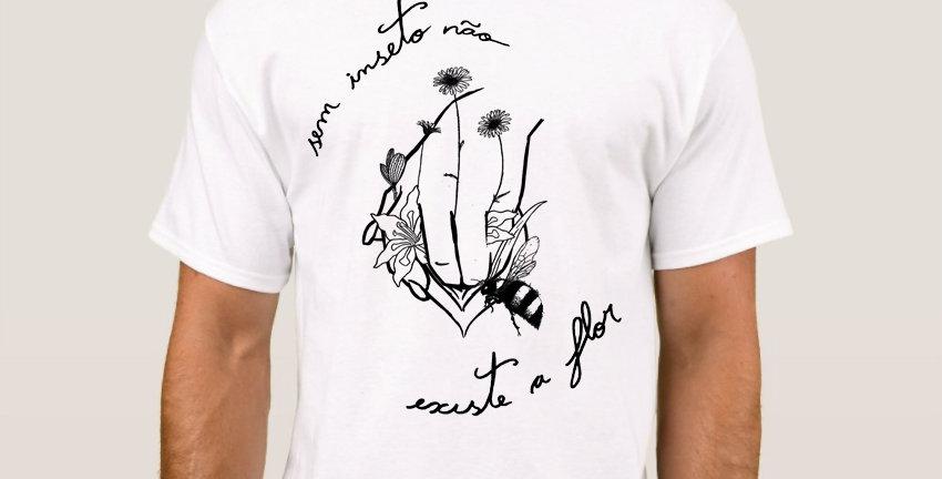 """Camiseta Básica """"A Mais Bonita"""" Branca"""