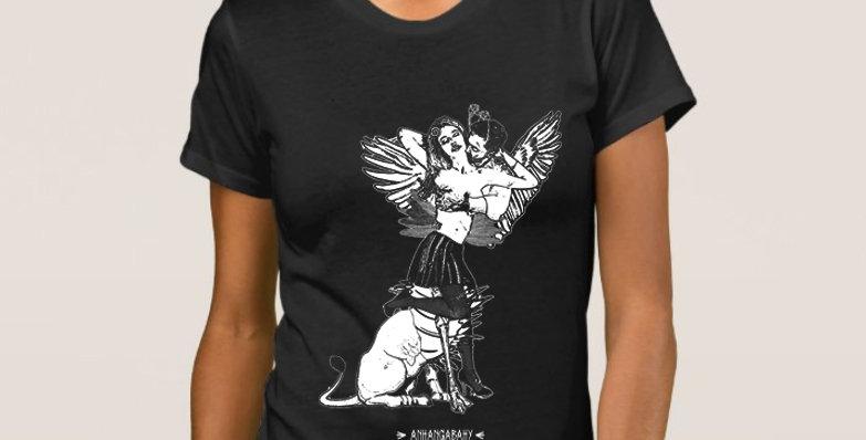 """Camiseta Feminina Baby Look """"Quimérica"""" Preto"""