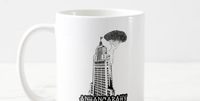 """Caneca Anhangabahy """"Banespão"""" Branca"""