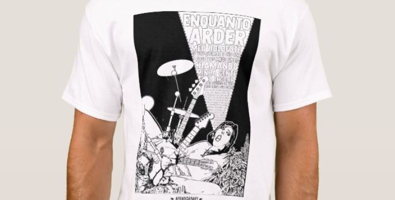 """Camiseta Básica """"Orgástica"""" Branco"""