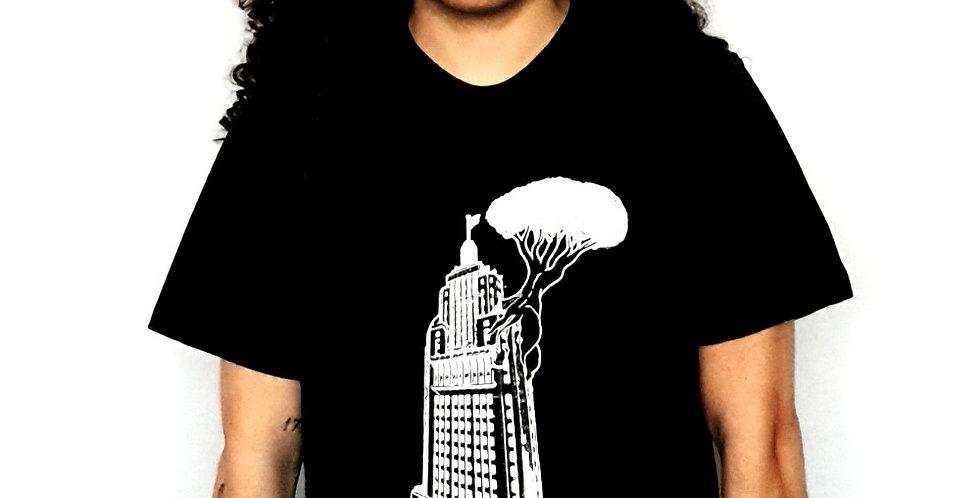 """Camiseta Algodão Orgânico """"Banespão"""" Preto"""