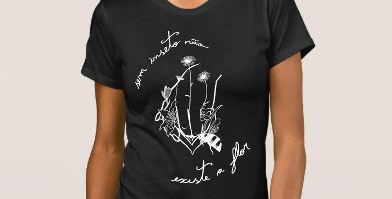 "Camiseta Feminina ""A Mais Bonita"" Preta"