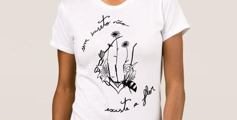 "Camiseta Feminina Baby Look ""A Mais Bonita"" Branca"