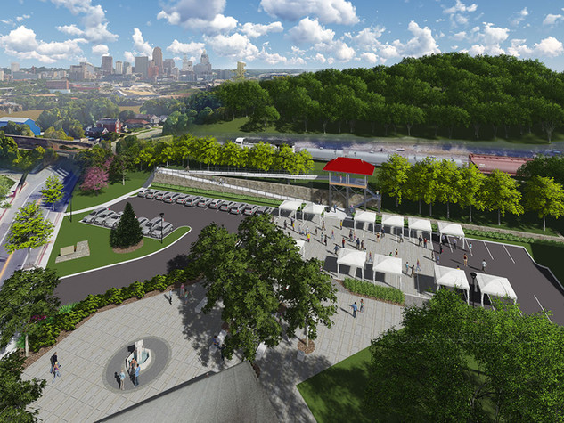 Ludlow, KY Train-Viewing Platform + Civic Plaza