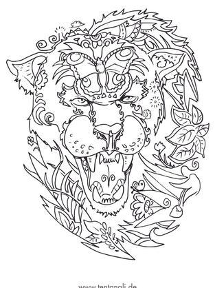 panther wildes tier wildnis brüllend sch