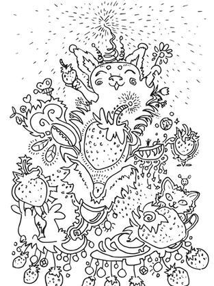 erdbeere hase katze kreativ glücklich au
