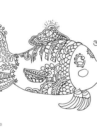 fisch wasser süß tier ausmalbild ausmale