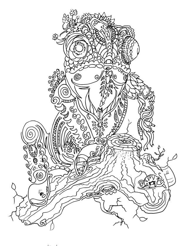 chamäleon tier ausmalbild kostenlos grat