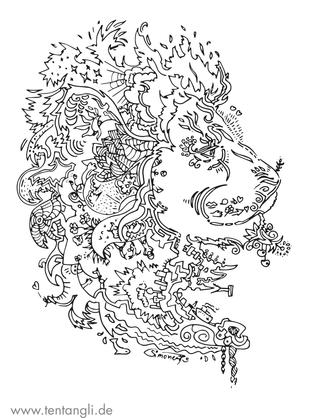 löwe könig der tiere ausmalbild mähne au